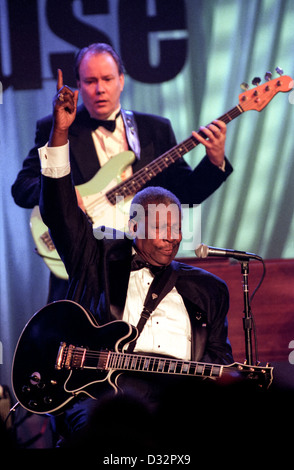 Blues legend B.B. King with his guitar Lucille perform for the first family at the taping of the PBS special Legends - Stock Photo