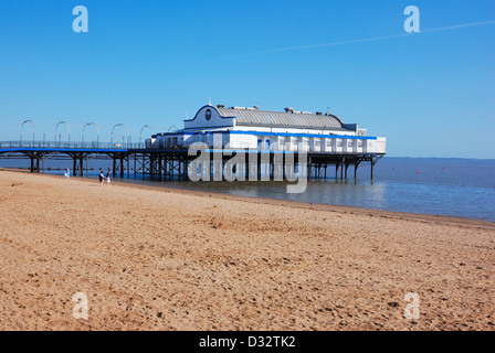 Cleethorpes  beach and pier lincolnsire england uk - Stock Photo