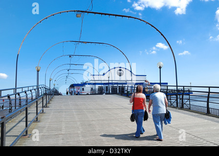 Cleethorpes pier lincolnsire england uk - Stock Photo