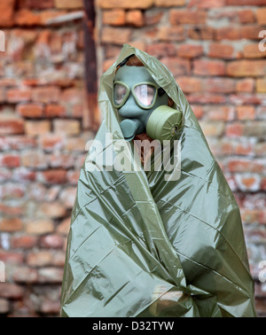Protective wear and mask for nuclear, bio and chemical protection - Stock Photo