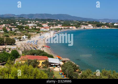 View over Tsilivi beach - Stock Photo
