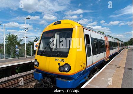 London Overground train on the Gospel Oak to Barking line, England, UK - Stock Photo