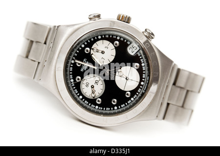 Rare Swatch Irony stainless steel watch from the millennium year collection (2000) - Stock Photo