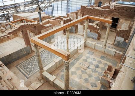 Interior of the Terrace Houses. Ephesus Archaeological Site, Izmir province, Turkey. - Stock Photo