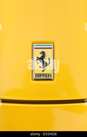 Ferrari 458 Italia insignia, Thruxton, UK, 03 08 2010 - Stock Photo