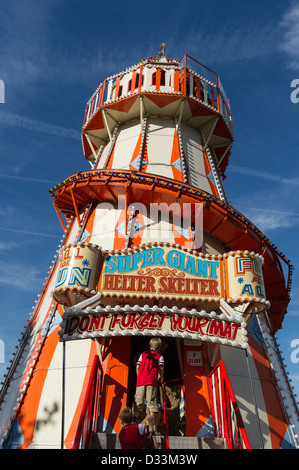 A traditional Helter Skelter, UK - Stock Photo