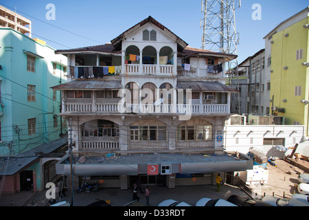 A 1930s Indian built house in downtown Dar es Salaam, Tanzania. - Stock Photo