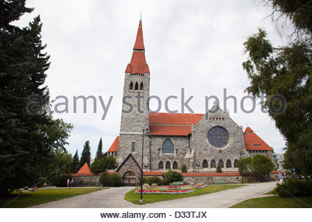 cathedral,tampere,finland,europe - Stock Photo