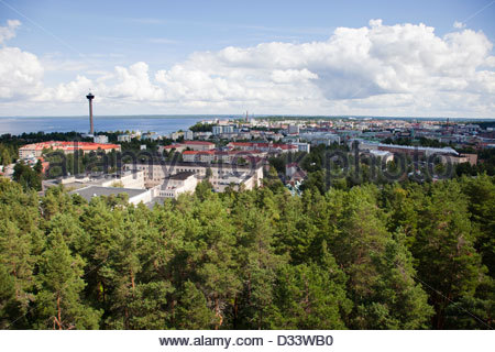 panoramic view from the observation tower,tampere,finland,europe - Stock Photo