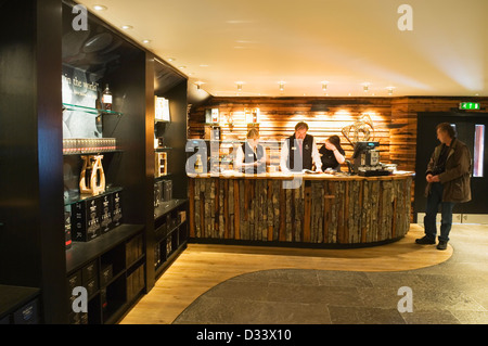The shop in the Highland Park whisky distillery visitor centre, Kirkwall, Orkney Islands, Scotland. - Stock Photo