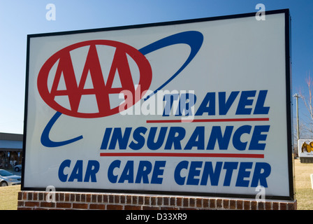 American automobile association sign stock photo royalty for Aaa motor club locations