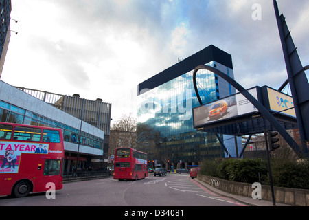 Silicon Roundabout in the heart of Tech City, East London's web-based technical hub, London, England, UK - Stock Photo