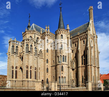 Episcopal Palace in Astorga, Spain - Stock Photo