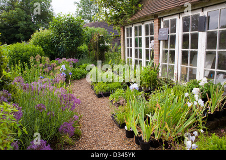 Traditional house and garden, Kent. - Stock Photo