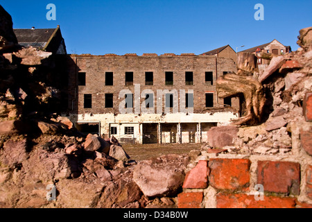The derelict William Halley & Sons Ltd Jute Mill was built in 1836 and is now a Listed Building in Dundee,UK - Stock Photo