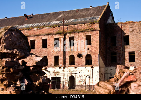 Derelict and a Listed Building the Dundee Jute Mill was built in 1836 and owned by William Halley & Sons Ltd,UK - Stock Photo