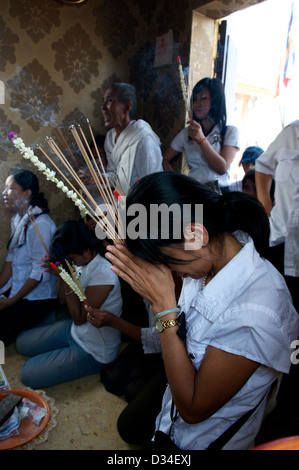 Cambodians Mourn the loss of King Norodom Sihanouk in Phnom Penh, Cambodia on Feb. 3rd, 2013. © Kraig Lieb / Alamy - Stock Photo