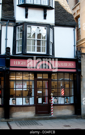 Oxford, England, Uk. Barber Shop On The High Street Being ...