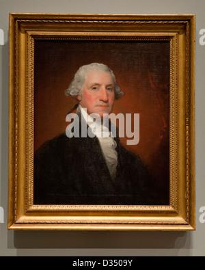 George Washington portrait by Gilbert Stuart, 1795 - National Gallery of Art, Washington, DC USA - Stock Photo