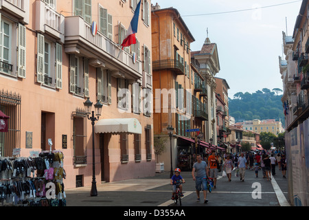 Nizza - Mediterranean City in Southern France - Stock Photo
