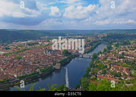Cahors, Lot River, Lot departament, Quercy, Via Podiensis, Way of St James, France. - Stock Photo