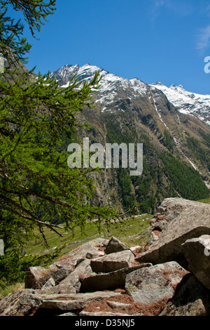 Alpine landscape in Gran Paradiso National Park, between Piedmont and Aosta valley, Graian Alps, Italy - Stock Photo