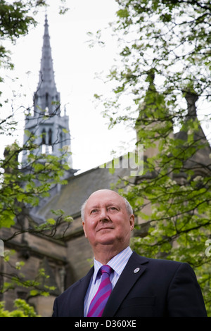 Professor Sir Kenneth Calman, the Chancellor of the University of Glasgow, and former Chief Medical Officer of Scotland - Stock Photo