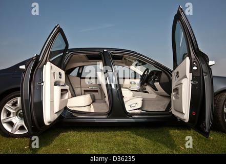 ... Open doors Rolls Royce Ghost luxury saloon car Goodwood UK 15 04 & Open doors Rolls Royce Ghost luxury saloon car Goodwood UK 15 04 ...