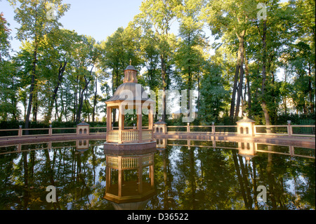 Summer on a lake in the summer garden - Stock Photo