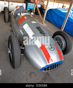1939 Mercedes-Benz W154 Silver Arrow at the 2012 Goodwood Revival, Sussex, UK. - Stock Photo