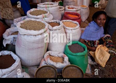 The Saturday Market, Bahir Dar, Ethiopia - Stock Photo