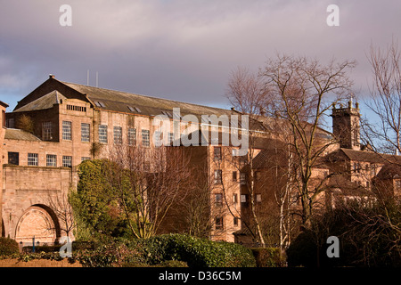 Scottish 1800`s Jute Mill owned by Baxter Brothers and is now a Listed Building in Princess Street Dundee, UK - Stock Photo