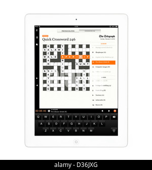 ... Doing the crossword on the Telegraph app on an Apple iPad 4th genration retina display tablet  sc 1 st  Alamy & Doing the crossword on the Telegraph app on an Apple iPad 4th ... 25forcollege.com