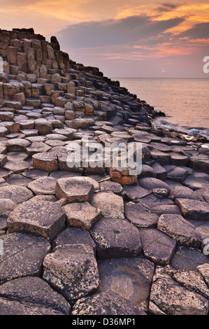 Giants Causeway north Antrim coast County Antrim Northern Ireland GB UK EU Europe - Stock Photo