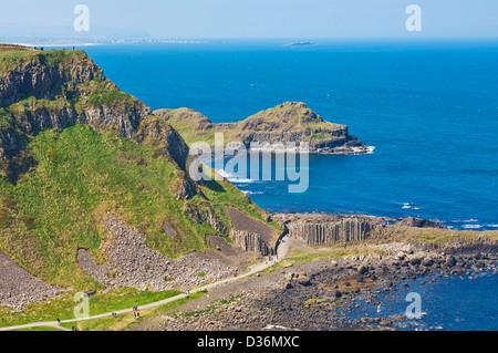 Giants Causeway north Antrim coastal path County Antrim Northern Ireland GB UK EU Europe - Stock Photo