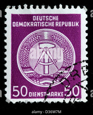 Coat of arms, postage stamp, Germany, 1954 - Stock Photo