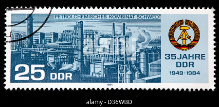 35th Anniversary of DDR, postage stamp, Germany, 1984 - Stock Photo