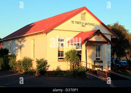 Historic Te Tii marae in Waitangi - Stock Photo
