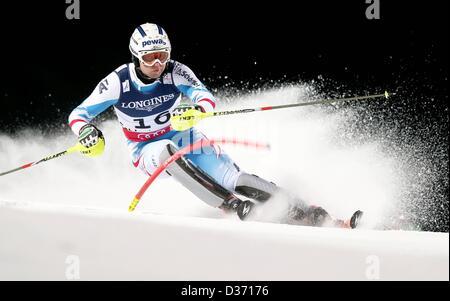 Schladming, Austria. 11th February 2013.   Ski Alpine FIS Alpine Ski World Championships 2013 Super combination - Stock Photo