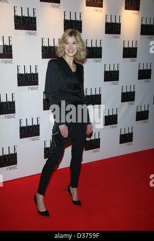 London, UK. 10th February 2013. Rosamund Pike arrives at the Elle Style Awards at The Savoy Hotel in London, England, - Stock Photo