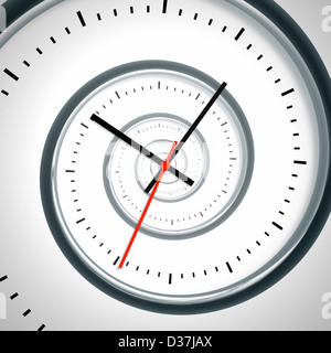 An image of a nice time spiral clock - Stock Photo