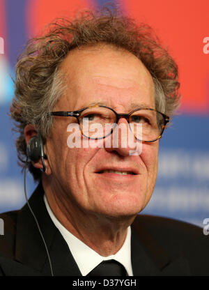 Australian actor and film producer Geoffrey Rush attends the press conference for the movie 'The Best Offer' during - Stock Photo