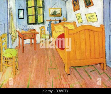 Vincent van Gogh - Vincent\'s Bedroom in Arles - Letter Sketch ...