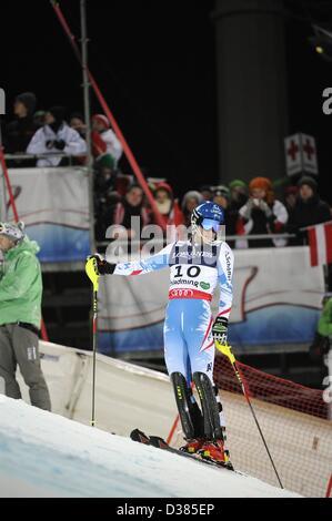 Schladming, Austria. 11th February 2013. Benjamin Raich (AUT), FEBRUARY 11, 2013 - Alpine Skiing : FIS Alpine World - Stock Photo