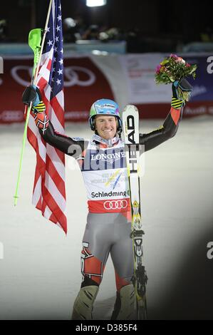 Schladming, Austria. 11th February 2013. Ted Ligety (USA), FEBRUARY 11, 2013 - Alpine Skiing : Ted Ligety of the - Stock Photo