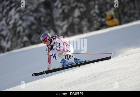 Schladming, Austria. 11th February 2013. Maria Hoefl-Riesch (GER), FEBRUARY 8, 2013 - Alpine Skiing : FIS Alpine - Stock Photo