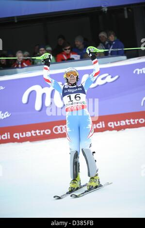 Schladming, Austria. 11th February 2013. Nicole Hosp (AUT), FEBRUARY 8, 2013 - Alpine Skiing : FIS Alpine World - Stock Photo