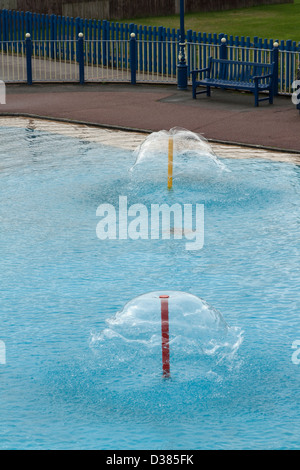 Maple Leaf Paddling Pool, Sutton on Sea, Lincolnshire, England, UK - Stock Photo