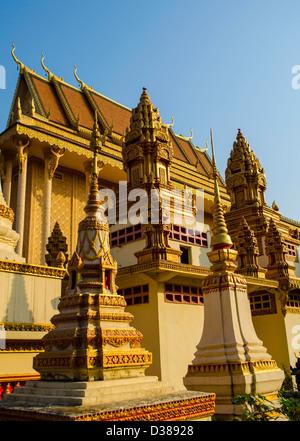 pagoda in Kratie Cambodia - Stock Photo
