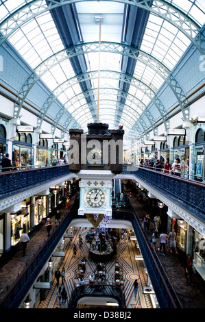 The interior of Queen Victoria Building (or QVB), is a late nineteenth-century building designed by the architect - Stock Photo